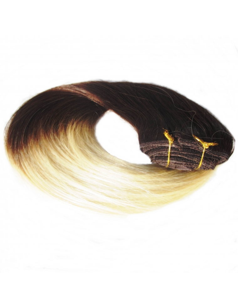 2 613 ombre clip in 50 cm 100 gram remy luksus hair extension. Black Bedroom Furniture Sets. Home Design Ideas