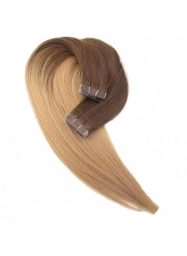 4/18, Ombre,Tape 4 cm, 50 cm langt, luksus remy hair extension