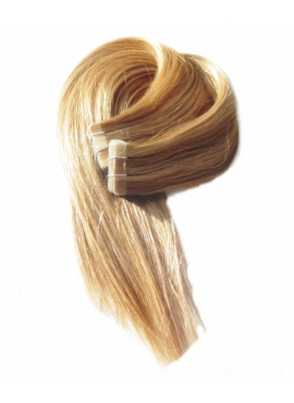 613/18 Mix farve, Tape 4 cm, 50 cm langt, luksus remy hair extension