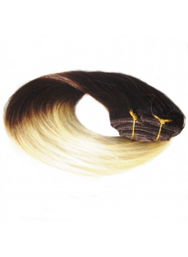 2_613 Ombre Clip in 50 cm, 100 gram remy luksus hair extension