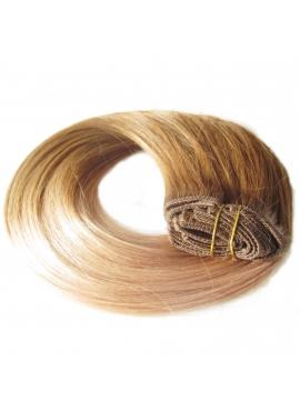 8_18 Ombre Clip in Hair Extension, 8 baner, 50 cm langt