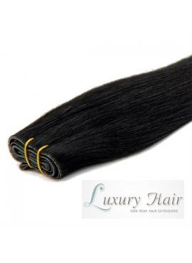 1 sort, Standard hår, i trense 50 cm langt i ægte hår