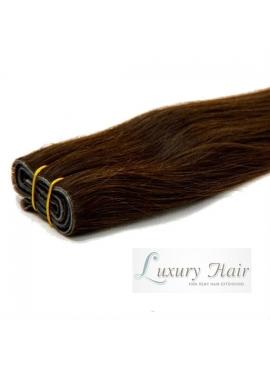 Farve 2 mørkebrun, Premium Eurostyle, 50 cm langt, 100 gram ægte hår