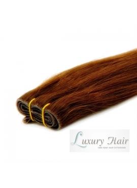 Farve 4 ChokoBrun, Premium Eurostyle trense 50 cm langt ægte hår