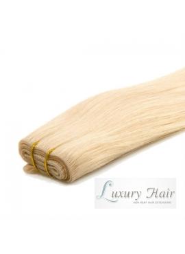 Farve 60 lysest Blond trense, Premium luxury 50 cm langt