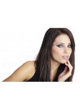 Farve 3 Chokobrun, Premium Eurostyle hår, 50 cm, 100 totter