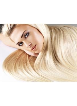 60 ICE Blond, 100 stk 1,2 grams Unique Luxury Remy fra Virgin hår extension til hotfusion, 70 cm