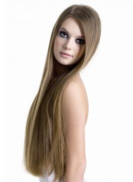 10 Mellembrun, tape hår, 4 cm brede luksus remy baner