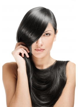 Farve 1b sort/brun, 100 totter 1,2 grams hotfusion, 70 cm langt Premium Luxury hår
