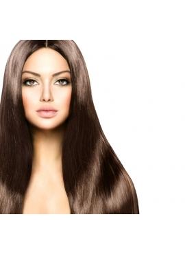 Farve 2 mørke brun, 100 stk 1,2 grams Premium Eurostyle Hår, 70 cm langt, glat hår med keratin negle