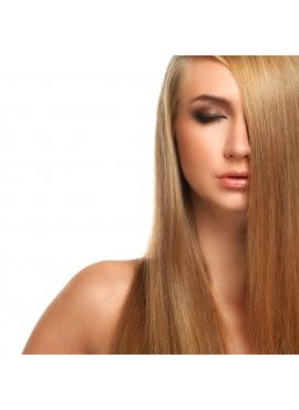 Farve 18 karamel, Premium Luxury 100 totter 1 grams hår med keratin negle, 50 cm langt glat