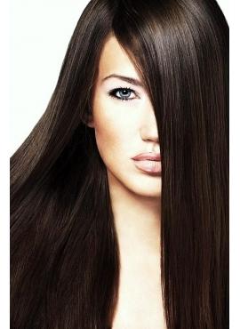 2 MørkBrun Double Drawn Tape Remy Hair Extensions, 60 cm langt