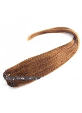 Farve 8, Trense Lysebrun, Premium Eurostyle, 50 cm langt, 100 gram ægte hår