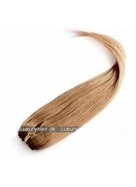 Farve 10 Naturlig Brun, Premium Eurostyle trense 50 cm langt i ægte hår