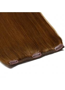 1 bane 18 cm, VÆLG farve, Luksus remy clip in hår extension, 50 cm langt