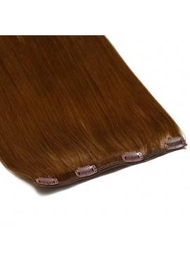 1 bane 23 cm VÆLG farve, remy clip in hår extension, 50 cm langt