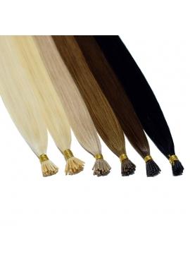 Coldfusion I-Tip, 25 stk. luksus remy hair extension, VÆLG FARVE, 1 grams totter, 60 cm langt. 25 stk. Vælg farve