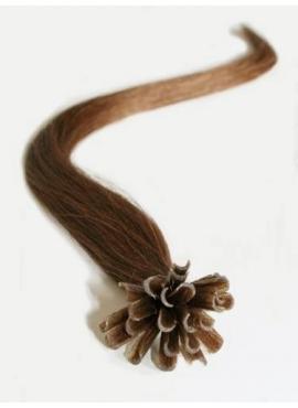 Farve 8 lyse brun, 100 stk 1 grams luksus remy hår extension til hotfusion 50 cm