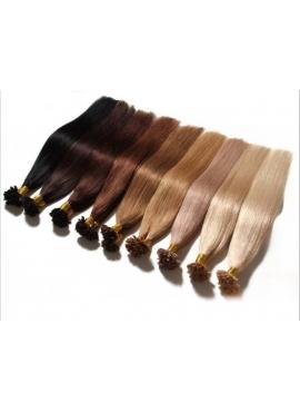 25 totter Remy hair extension til hotfusion, 70 cm langt, 1,2 grams totter, Vælg farve