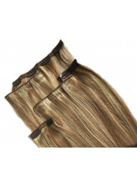 Halv pakke clip in4 baner luksus clip in hår, 50 cm længde