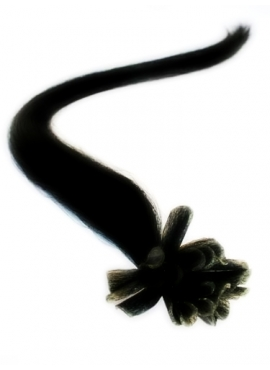 1 sort, 100 stk luksus remy hotfusion 1 grams, 60 cm langt
