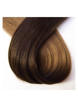 2/10 Mørkbrun/Mellemblond ombre hotfusion, 50 cm langt