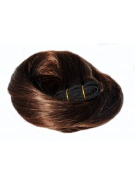 Nr. 2 Mørkest Brun, trense 60 cm langt i luksus remy hår
