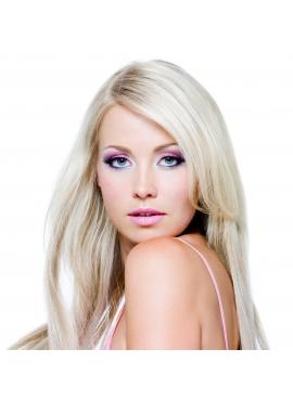 Silver Blond, Virgin Hair Trense 50 cm langt, 100 gram eksklusivt luksus hår