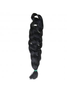 1 sort, X-Pression Kanekalon hår, til flettemetodden. syntetisk 205 cm, 165 gram