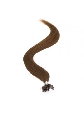 Farve 3 Chokobrun, 1,1 grams totter, Hotfusion Premium Eurostyle hår, 60 cm, 100 totter