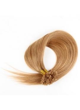 16 Honning, luksus indisk top grade hår extension, 1 grams totter, 60 cm langt