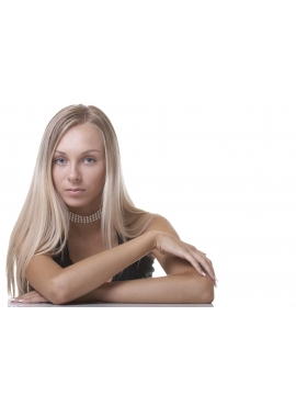 Silver Blond, Premium luxury 50 cm langt, 1 grams totter, 100 totter til hotfusion
