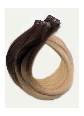 2/613, Ombre,Tape 4 cm, 50 cm langt, luksus remy hair extension