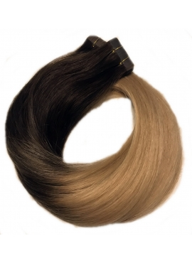 2/18 Ombre Tape hair extension, Asien Luxury, 4 cm baner, 50 cm