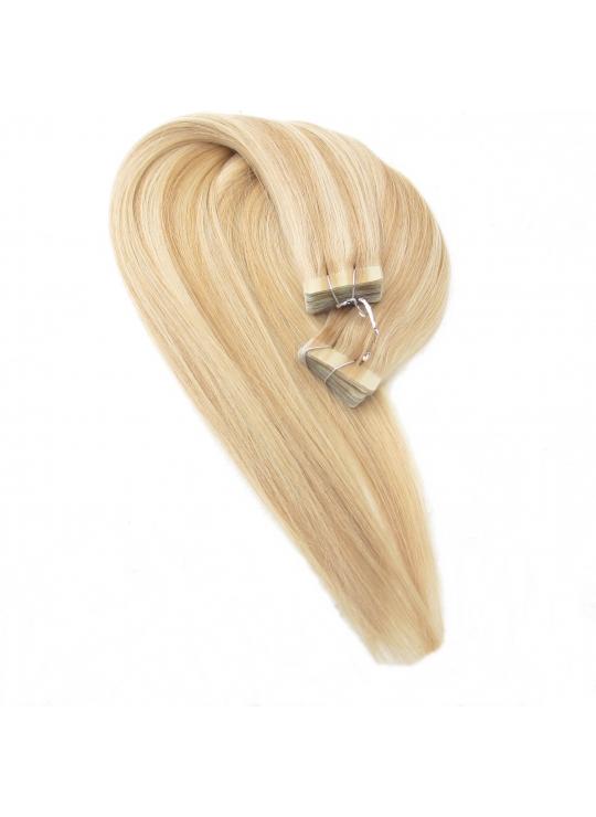 60/18 Mix farve, Tape 4 cm, 50 cm langt, Asien hair extension
