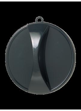 """Nakkespejl i sort """"Executive"""" ø29 cm med håndtag, hage og ophængsløkke"""