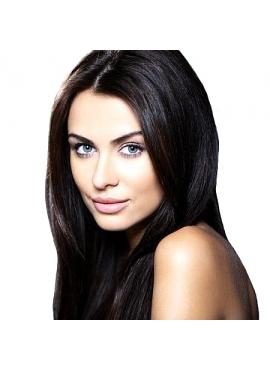 Farve 1b sort/brun, Premium Luxury Hår extension, 100 totter 1 grams hotfusion, 50 cm langt ægte hår