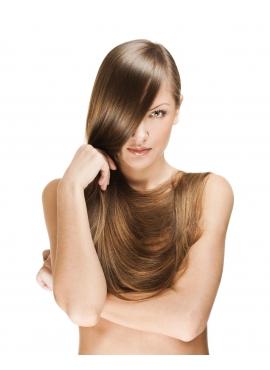 Farve 8, lyse brun, Premium Luxury Trense, intakt skællag, 50 cm langt, 100 gram ægte remy hår