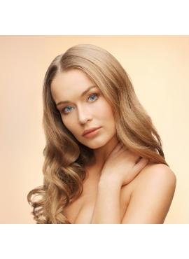 Farve 18, karamel farvet luxury Trense, intakt skællag, 50 cm langt, 100 gram ægte remy hår