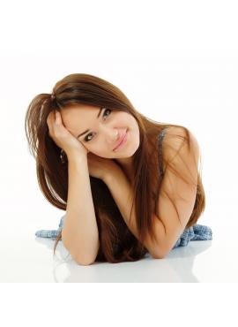 Farve 4 ChokoBrun, Premium luxury trense 50 cm langt ægte hår