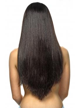 Farve 1b Sort med mørkebrune toner, Premium luxury trense 50 cm langt ægte hår