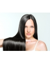 1b Naturligt mørkebrunt DOUBLE DRAWN UNIQUE LUXURY Hair Trense 60 cm langt, 100 gram Virgin luksus hår