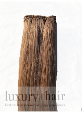 2 Mørk Brun håndlavede trense i unique top kvalitet 50 cm længde