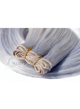 Silver, Premium Luxury Trense 50 cm langt, 100 gram remy hår