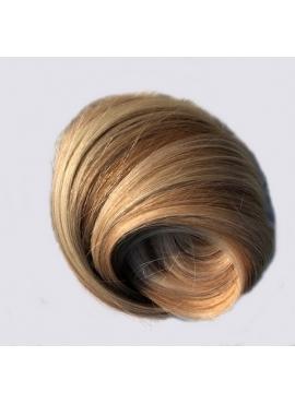 60/10 Lysest blond med naturlig brunt mix med lysebrun, Unique luxury, 50 cm langt hår trense, 100 gram