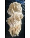 60 lysest blond, clip in hår, 100 gram - 8 baner med clips