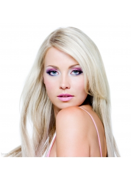 Ice Blond, Premium Luxury hotfusion 60 cm langt, 1,1 grams totter, 100 totter