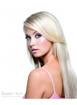 Ice Blond, Premium luxury 100 stk 1 grams hår extension til hotfusion