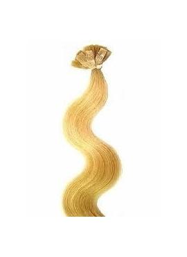 22 ask blond, 100 stk 1 grams luksus remy hår bodywave 55 cm langt, hotfusion