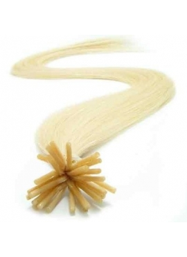 60 lysest blond, i tip, hair extension, luksus remy coldfusion 1 grams
